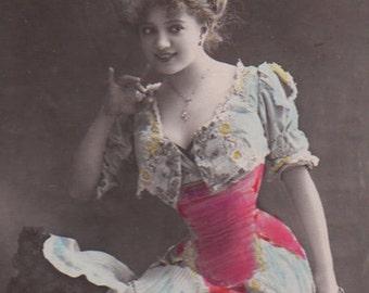 Ravishing Stage Beauty Arlette Dorgere Vintage Photo Postcard