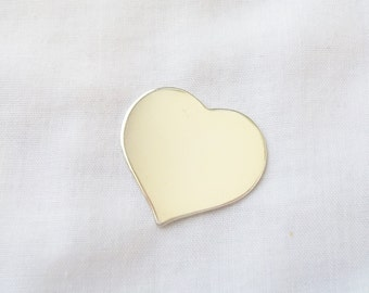 "20 gauge 1.25"" Sterling Silver Medium Heart Stamping Blank for Hand Stamped Jewelry ~ 1 Piece"