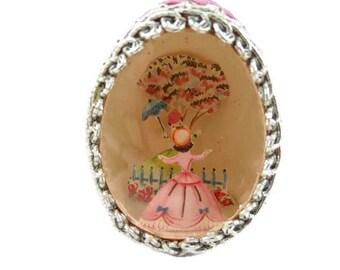 Vintage Easter Decoration - Egg Diorama - Easter Egg Diorama - Easter Parade -Easter Egg Ornament - Free Shipping - 2HM16