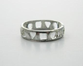 Silver Shapes Cutout Ring