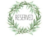 RESERVED LISTING for Jose