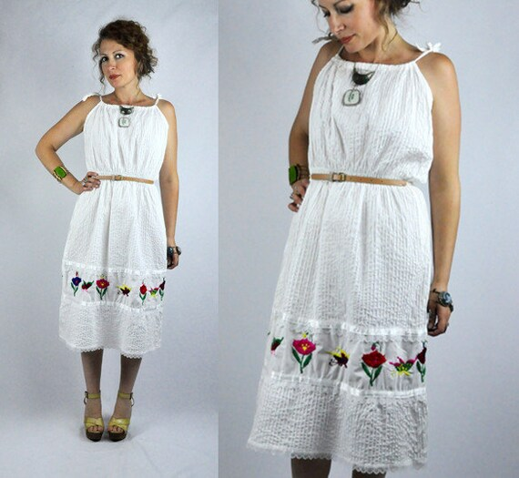 Sale mexican dress embroidered dress floral white dress for Mexican wedding dresses for sale