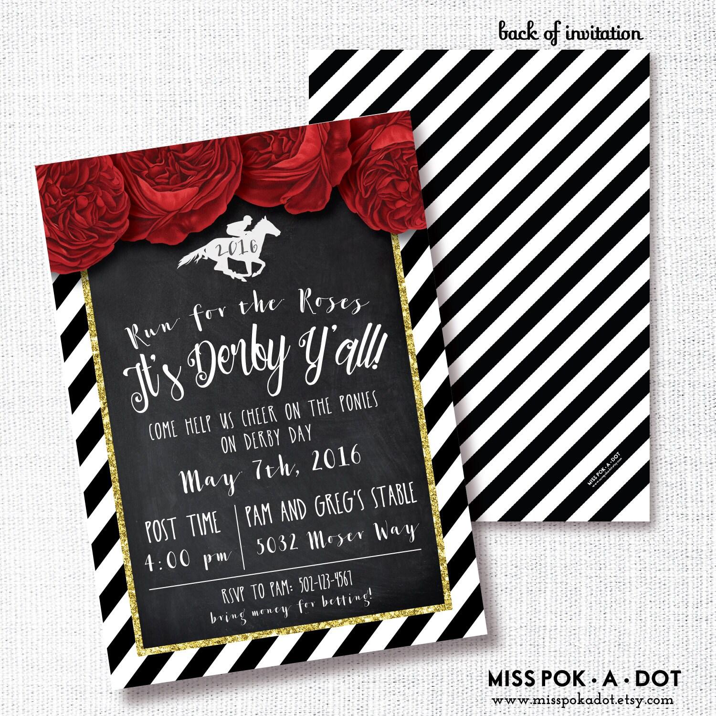 Horse Race Party Invitation Printable Kentucky Derby Invite