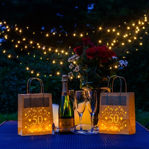 50th Birthday Lantern Bags Perfect 50th Party Decoration