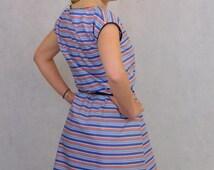 Striped Dress,Striped Cotton Dress,Cotton Dress,Preppy Striped Dress,Preppy Dress,Light Cotton Dress,Blue and Red Dress,Blue and Red Stripes