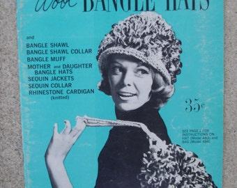 Vintage Sewing Book, Vintage Craft Book, Walbead Book, BANGLE HATS, 1962 Unused