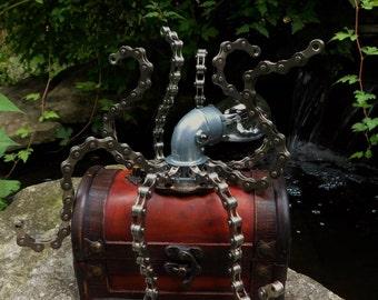 Steampunk Octopus - Steampunk Sculpture - Steampunk Kraken - Steampunk Figurine - Steampunk Art