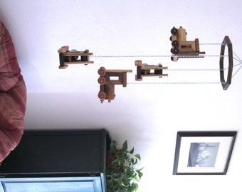Big Rig / Semi Truck Mobile - Upcycled Scrap Wood