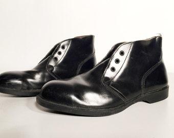 Vintage Men's Black Leather Shoes