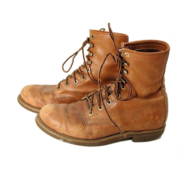 vintage herman santa rosa boots barn boots work boots santa santa rosa leather boots 128270zoom