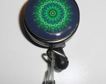 Mandala Badge Reel - Nurse Stethoscope Clip - ID Badge Reel -  Art Teacher Badge Reel - Student Nurse - Badge Reels - IDR644