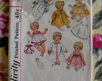 Baby Doll Wardrobe SIMPLICITY 4727 vintage sewing pattern