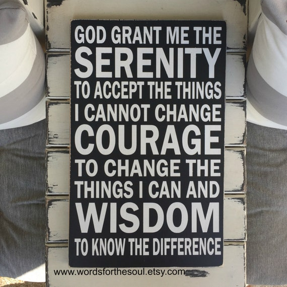 Serenity Prayer - Christian Wall Art - Wall Hanging - Rustic Wood Signs -  Scripture Wall Art - Serenity Wall Hanging Decor - Home Decor