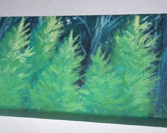 "Baby Pine Trees Mini 2x4"" Painting"
