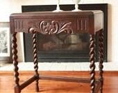 Jacobean Style Hall Telephone Table
