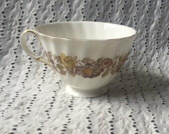 Vintage Royal Doulton Mayfair Brown Flowers Teacup M4897