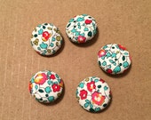 Fabric Buttons Liberty of London 3/4 inch Size 30 19mm fabric covered