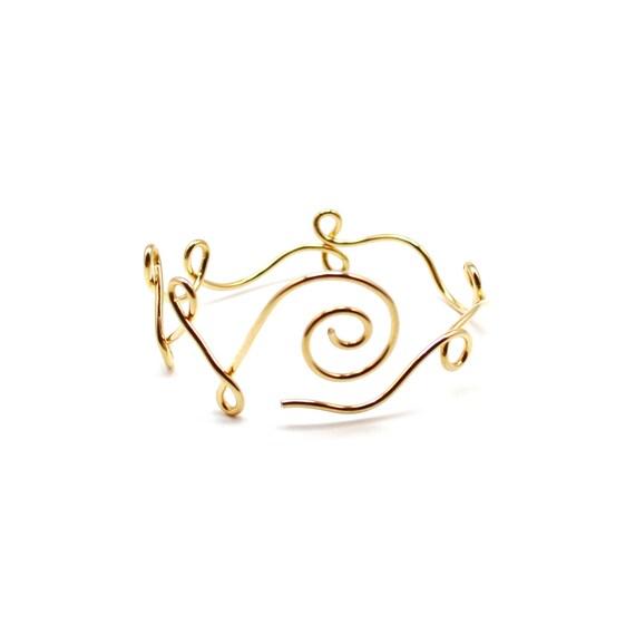 Gold Unalome Bracelet - Custom Spiral Bangle - Silver, Gold, Rose Gold - Meditation / Yoga Jewelry