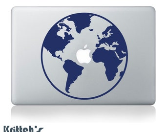 Planet Earth Vinyl Decal - fits cars, laptops , windows + more K463