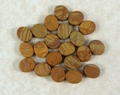 "Jasper Beads - Wooden Look Beads - Tiger Skin ""Jasper"" - Oval Beads - 14x11mm - Qty. 21 Beads"