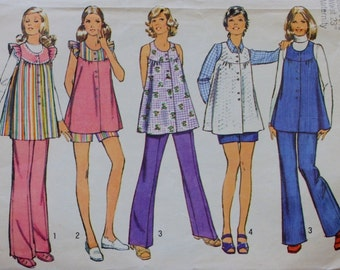 Simplicity 5421/ Maternity Smock /Pants /Sewing Pattern/ Bust 30.5