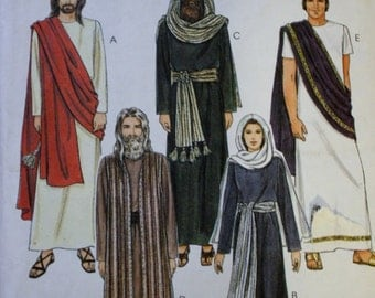Costume Sewing Pattern Passion Play Jesus, Mary, The Apostles Simplicity 2060 Bust/Chest 34-36 UNCUT