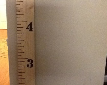 Engraved growth chart wooden