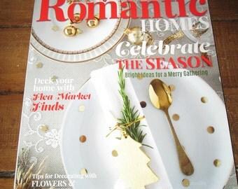 Sale Romantic Homes December 2015 Celebrate the Season Christmas Magazine Design Decor Decorating Book TVAT EPSteam WLVteam hsh