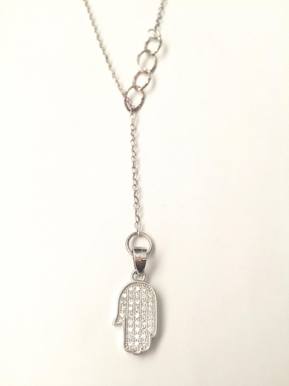 hamsa lariat necklace