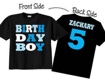 birthday boy shirts and tshirts for fifth birthday or any birthday on black shirt
