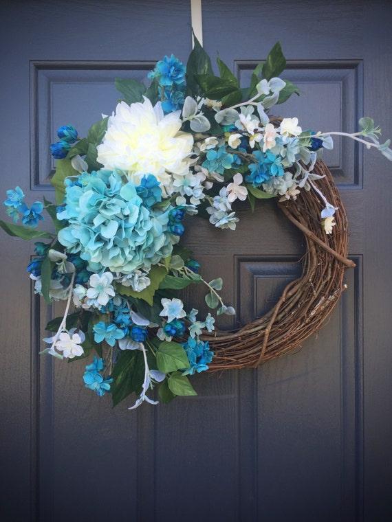 Spring Wreaths Blue Door Wreaths Baby Boy Blue Decor