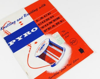 Knitting and Braiding with PYRO Plastic Lacing - Vintage 1950s Craft Tutorial - 1958