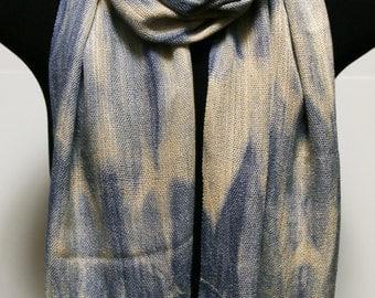 Handwoven Arashi Shibori Scarf