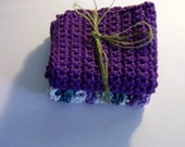 HANDMADE Cotton DISH CLOTHS or wash cloths, set of 2 Made To Order