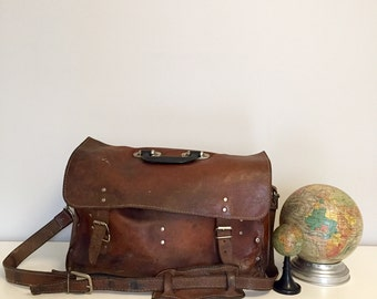 Vintage Electrician's Leather Tool Bag