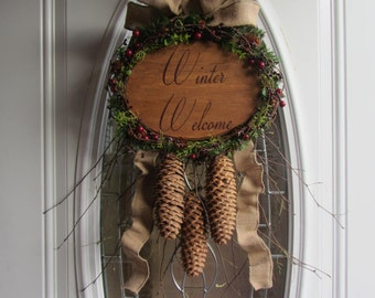Winter Wreath - Holiday Wreath - Christmas Wreath - Front Door Wreath - Wreath - Winter Door Decor - Winter Welcome Wreath -