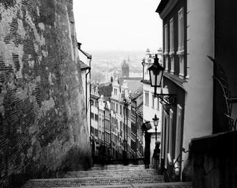 Prague Black and White Urban Photography - Limited Edition Print - 8x10, 12x15, 16x20, 20x25, 24x30
