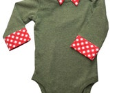 Baby Boy Onesie with Collar - 3 month - Christmas Baby Boy - Dressy Onesie - New Baby Gift