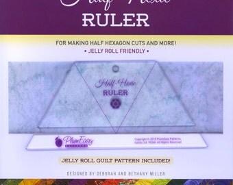 Half-Hexie Ruler by Plum Easy Patterns (PEP-208)