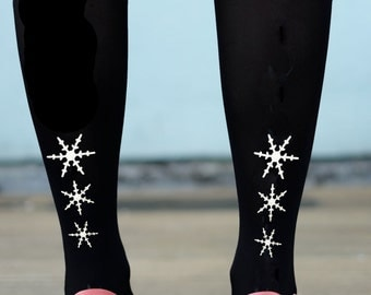 Gold or Silver Snowflake Tights