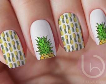 Nail decal etsy pineapple nail decal transfer fruit nail sticker nail design nails press on prinsesfo Images