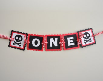 Pirate High Chair Banner, Pirate Party Banner, Pirate 1st Birthday