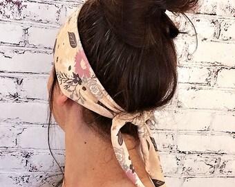 Tie-Back Headband - Flower Power - Boho Headband - Yogo Headband - Eco Friendly