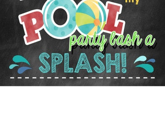 Pool Party Thank You Card | 4x6 Thank You | Instant Download