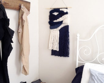 Sale! - WOVEN WALL HANGING (Navy & Cream)