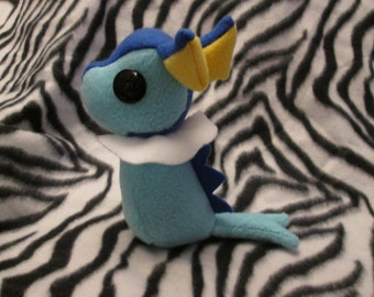 Vaporeon Pokemon Plush, Geeky, Unique Gift for Video Game Lovers, Nerds, and Kids, Original Geek Toy, Kawaii Handcrafted Plushie Squishy