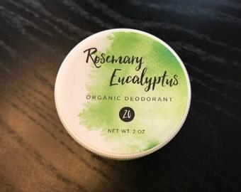 NEW! Rosemary Eucalyptus Organic Deodorant - ZO Formula (Sensitive Skin)