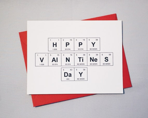 Valentines day chemistry card periodic table of the like this item urtaz Choice Image