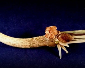 """Earthy Primitive Antler Wand, """"The Stag"""" - Powerful Earth Energies"""