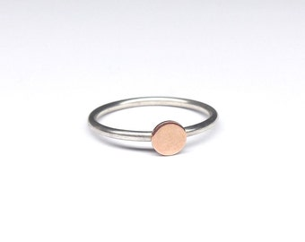 925 Silver ring point 333 red gold